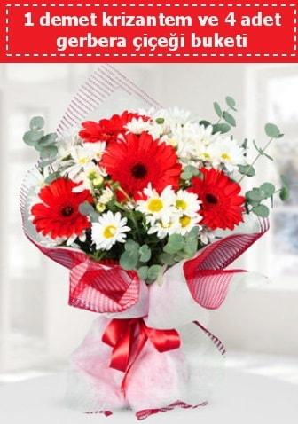 Krizantem ve Gerbera Buketi  Zonguldak çiçek siparişi sitesi