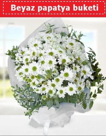 Beyaz Papatya Buketi  Zonguldak 14 şubat sevgililer günü çiçek