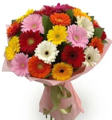 Karışık büyük boy gerbera çiçek buketi  Zonguldak çiçek satışı